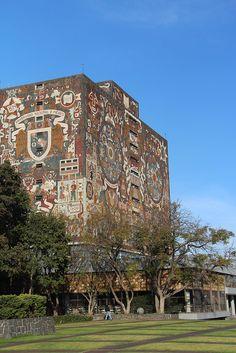 #Biblioteque Central de la Universidad Autónoma de #México, #Mexico City #UNAM  #Mexique