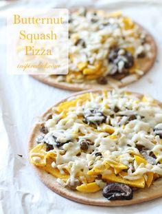Butternut Squash Pizza from InspiredRD.com #glutenfree #dairyfree #lucisrecipes