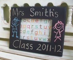 End of Year Teacher's Gift - Chalkboard Picture Frame