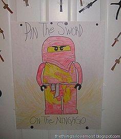 party games, birthday parti, ninja party, lego ninjago, parties, kid parti, parti idea, sword, ninjago parti