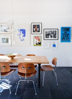 Eames dining chairs.