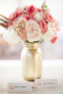 DIY Mason Jar Flower Vase #diy #diywedding #wedding #masonjar