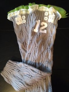Seattle Seahawks Grey Leg Warmers 12th Man by Katesgraceclothing
