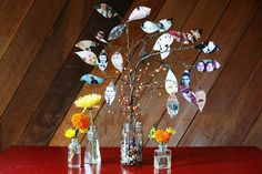 Family Photo Tree Centerpiece