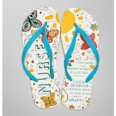 "Haight-Ashbury ""Nurse"" Flip-Flops,  Fun!"