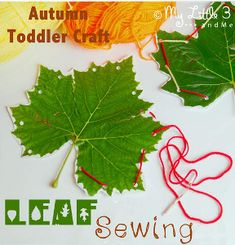 This leaf project is a great fine motor skills activity for little ones, and it's festive for fall!