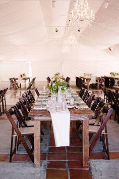 tented reception, photo by Shane and Lauren Photography http://ruffledblog.com/romantic-wedding-meets-winery-chic #weddingreception #weddingideas