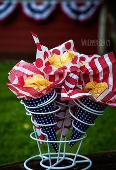 Summer Potato Chip Cones