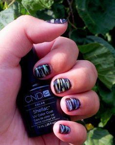 Nail Art: Zebra Print-Inspired Mani using CND Shellac - Hot Pop Pink