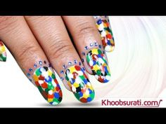 Colorful Dots Nail Art tutorial By Khoobsurati.com