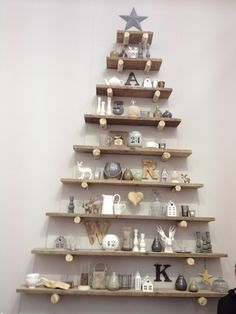 Place Holy Family at the top, then place all the figures that came to visit them during the night of Christ's Birth on the shelves below. What a simple way tell the story of Christ's birth to a child, while creating a compelling holiday display (Great for retail stores as well)!