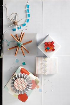 gift wrap ideas via #poppytalk