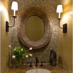 Guest bathroom- mosaic/ tiled wall