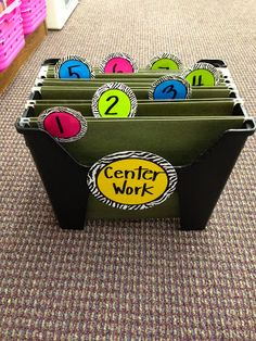 filing system to keep track of completed center work