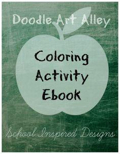 Free Doodle Activity School Ebook.  Download Today!!