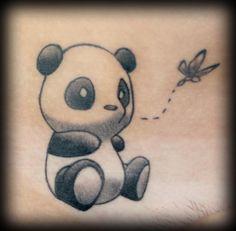 cuuuuuute! Tattoo Ideas, Palms Trees Tattoo, Baby Pandas Tattoo, Cute Pandas Tattoo, Tattoo Face, Tattoo Best Friends, Tattoo Pandas, Animal Names Tattoo, Friendship Tattoo