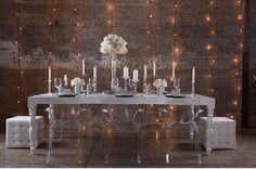 Silver + White Wedding Table
