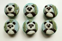 Panda cupcakes by Curly Cakes, via Flickr