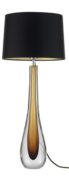 Brown Glass Table Lamps On Pinterest Bedroom Table Glass Table Lamps And T