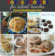 Top 10 Cookies for School Lunches: think outside the chocolate chip cookie box with this fun roundup. #BackToSchhol #CookieRoundup