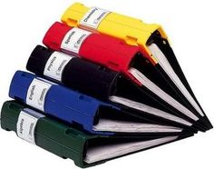 Colored binders / Organize by Unit / Topic