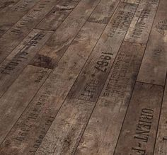 #floors #reuse recycled wine crates.