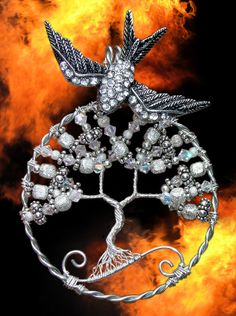 The Hunger Games Catching Fire Mockingjay by RachaelsWireGarden, $130.00