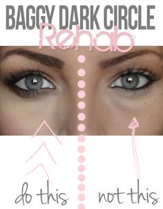 Tips to diminish baggy under eyes and dark circles #makeup