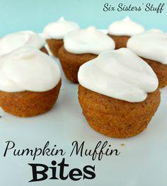 Six Sisters' Stuff: Pumpkin Muffin Bites
