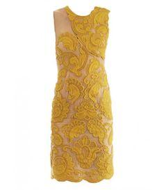 Steven embroidered silk dress