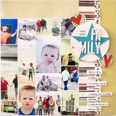 Fit More Photos on a Scrapbook Page About Family by Creating a Photo Collage