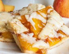 sweet, peach pie filling, food, peach cobbler filling, cobbler bar, recip, peaches, peach pie bars, dessert