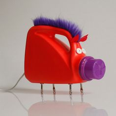 "Purple Mane Bottlelamp now featured on Fab 38% .would not let me pin this under you have got to be kidding me!?! this guy wants $115 for this lamp on SALE! wow. but I do think it would be something cute to make ""at home"" with your children. I am sure the lamp kit would not cost that much."