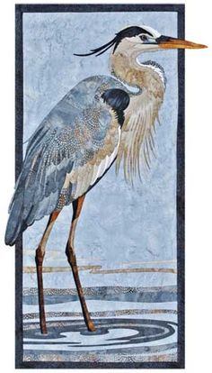 GREAT BLUE HERON WALL QUILT