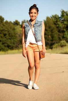 Outfit - denim vest