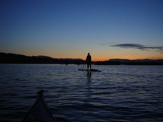 Sunset paddle in Cow Bay