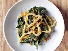 Strozzapreti with Spinach and Preserved Lemon Recipe  at Epicurious.com