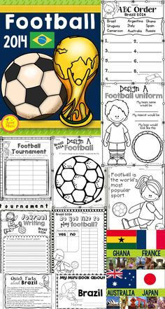 World Cup Football Classroom Printables Pack  Celebrate the World Cup and football this June with this classroom printables package! An assortment of fun learning activities have been included in this package for a variety of age levels.  A coloring page FREEBIE is in the preview. $