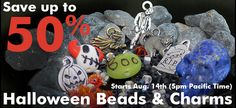 Halloween Beads and Charms on sale through 10/30/2014