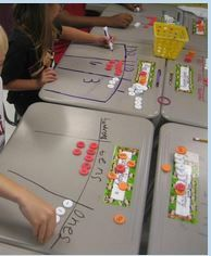 Place Value-I like the idea of doing it right on their desks. Using the money is a great way to introduce decimals.