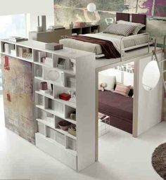Big girl bunk bed. Holy cow, that's awesome!