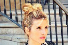 hair bow bun tutorial