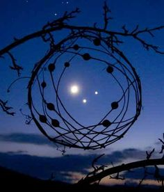 Moon, Venus, and Jupiter conjunct....