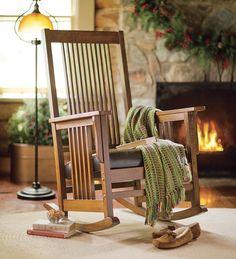 porch furnituredecor, rockers, mission rocker, furnitur idea, seats, plow, pad seat, hearth
