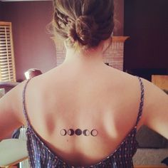 Moon Phases Tattoo - to show that I've changed over time, but essentially, I'm still the same person.