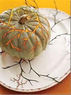 thorny pumpkin.  #halloween  #pumpkins