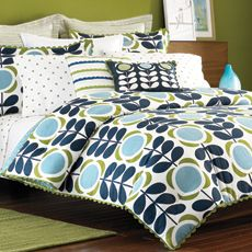 Orla Kiely Field of Flowers Bedding Set, 100% Cotton Sateen 300 Thread Count - Bed Bath & Beyond