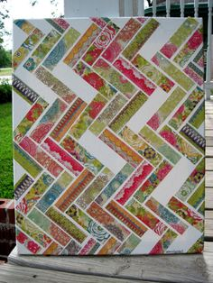 Chevron quilt inspired collage