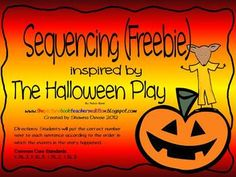 Sequencing Freebie for The Halloween Play - Shawna Devoe - TeachersPayTeachers.com
