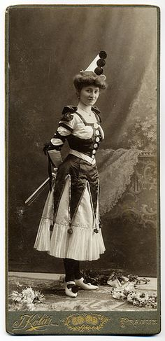 Costumed Lady from the past:  by josefnovak33, via Flickr clown